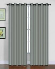 "Winry Solid Faux Silk Window Curtain Grommet Single Panel 55"" Extra Wide Drapes"