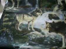 Fabric quilt one quarter  1/4 yard Wolves