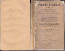 C1 Pierre TREMAUX Principe Universel de la Vie du Mouvement et Etat Matiere 1869