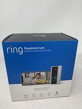 New Ring Peephole Door View Camera doorbell Satin Nickel 8SP1S9-0EN0 peep hole