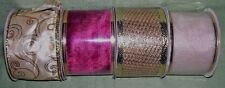 """lot of 4 bolts 2 1/2"""" wired Christmas  ribbon"""