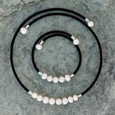 58a400fb8b69 Collar y pulsera de perlas naturales de agua dulce Nuevo