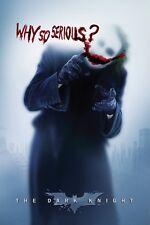 Joker Batman Why So Serious Heath Ledger Dark Knight Poster Print New 24x36
