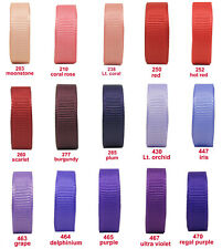 "BUY 4 GET 1 FREE 10y 25mm 1"" Red Burgundy Purple Grosgrain Ribbon Premium Eco"