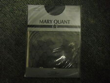 Vintage Mary Quant Black Double Diamond Tights One Size Fine Diamond Design
