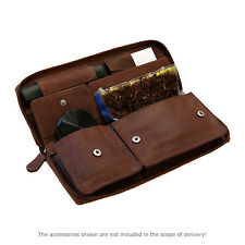 HORTOSOL HAVANNA Genuine leather tobacco pouch Purse brown Cig Case Rolling Kit