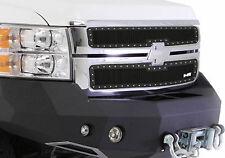 Smittybilt M1 Grille 11-14 Chevy Silverado 2500 3500 Black Stainless Mesh 615822