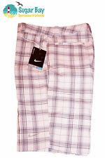 Nike GOLF Ladies Stay Cool Stay Dri Shorts Checked Pink / Grey