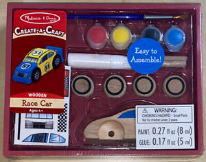 Melissa & Doug Create-A-Craft Wooden Race Car Kit Ages 4 & Up #4575 Brand New