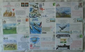GB RAF Aviation 9 flown & signed covers 1979-89 - crew signed