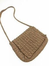 Carrie Forbes Crotchet Side Bag Crossbody Brown Small