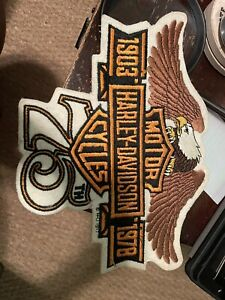 Rare NOS - Harley Davidson Motorcycles 75th Anniversary 1978 Biker Jacket Patch