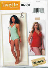 2016 Butterick Sewing Pattern 6360 Misses 18w-24w Lined Swimsuits in Plus Sizes
