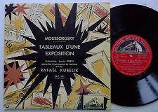 """KUBELIK / MOUSSORGSKY Tableaux d'une expo FRANCE 50's MONO 10""""LP VSM FBLP 1031"""