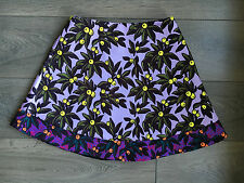 BNWT TOPSHOP UNIQUE SKIRT UK10 RRP£48 SOLD OUT NEW PATTERN QUIRKY PURPLE YELLOW