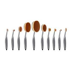 NEW Artis Elite Smoke 10 Piece Makeup Brush Set Oval, Linear, Circle Brushes