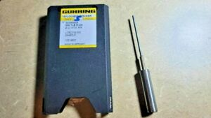 New 2.1 mm Diameter  Carbide Tube/Steel Shank Coolant Fed Gun Drill, 100 mm long