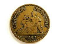 "1923 France Fifty (50) Centimes Coin ""Closed 2"" Variety"