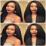 Italian Yaki 360 Glueless Lace Wig 9A Brazilian Remy Human Hair Wig Pre Plucked