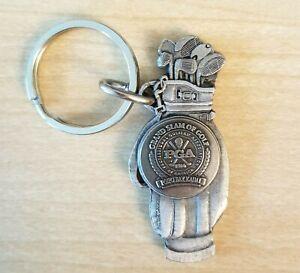 Pewter PGA Golf Clubs Bag Keychain Key Ring
