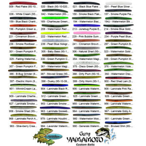 Gary Yamamoto Senko 4 Inch (9S-10) Stick Bait Worm Any 68 Colors Bulk Lot Lures