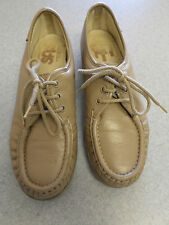 """SAS """"Handsewn"""" taupe leather oxfords, Women's 8 N made in USA"""