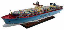 "Maersk Line Triple E Container Ship Model 39"" - Handmade Wooden Cargo Ship Model"