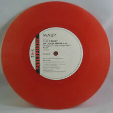 """W.A.S.P. THE IDOL c/w THE STORY OF JONATHAN  SPECIAL CRIMSON 7"""" VINYL-WASP-red"""