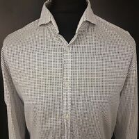 HUGO BOSS Mens Casual Shirt XL Long Sleeve White Regular Fit  Cotton