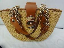 ladies Michael Kors woven straw handbag medium size