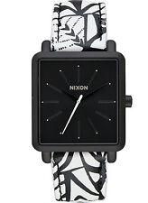 NEW Nixon A472 2218 K Squared Black Women's Leather Strap Watch
