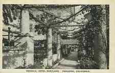 Postcard Hotel Maryland Pergola, Pasadena, California - circa 1920s