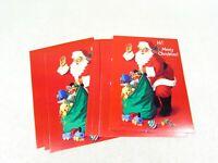 Christmas Postcards Santa Bag of Toys Vintage American Greetings Set of 18