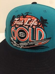 Starter 'KAYO' Fast Life Gold Miami Dolphins Blue Colourway Snapback