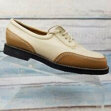 Stuart Weitzman Goretex Women's Tan & Brown Leather Golf Shoes Size 7 B, M