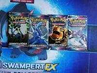 4x Pokémon Diamond & Pearl art set (Portuguese) Diamante & Pérola booster Pack