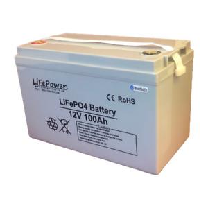 Deep cycle Bluetooth LITHIUM LEISURE BATTERY, 12v LiFePO4. 12v 100ah