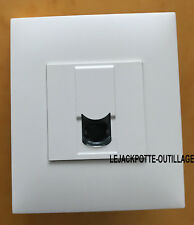 Blanc Simple Variateur Interrupteur de lumière 1 Gang 2 Way 250 W Rocca Screwless apparition