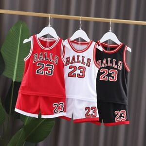 Kids Basketball Costume Toddler Baby Boy Sports Playsuit Infant Clothes 2pcs