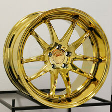 18x9.5/18x10.5 Aodhan DS2 DS02 5x114.3 15/15 Gold Vacuum Wheel New set(4)
