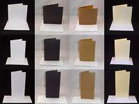 10 x Greeting Card Blanks & Envelopes - Straight Edge - Choose Colour & Quantity