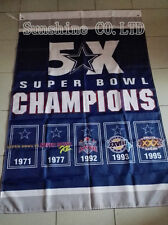 Dallas Cowboys 5X Super Bowl Champions Flag hot sell goods 3X5FT 150X90CM Banner