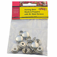 X5 W4 Caravan Awning Skirt STUDS And POPPERS With Stainless Steel Screws
