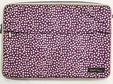 Lotta Jansdotter for Targus Laptop Computer Bag Case Purple Beige Zipper