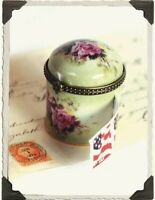 Victorian Trading Co Pink Porcelain Roses Stamp Roll Sticker Box NIB