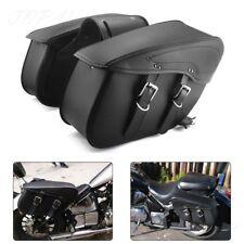 Universal Motorcycle Pannier Luggage Saddle Bags Saddlebags For HARLEY Honda etc