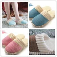 Winter Women Men Fleece Warm Soft Plush Antiskid Indoor Couple Home Slippers G