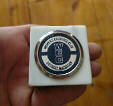 Rare vintage Women's Economic Club Detroit paper weight
