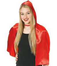 LITTLE RED RIDING HOOD CAPE - RED - ADULT ONE SIZE
