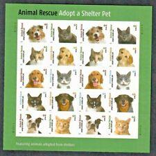 Us #4451-4460 Mnh, Animal Rescue/Adopt A Shelter Pet, Sheet, Fv $8.80 (2010)